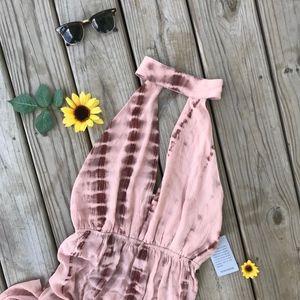 Missguided Tie-Dye Halterneck Dress NWT
